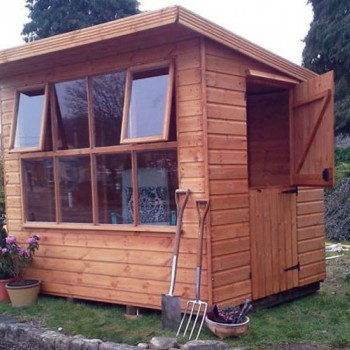 Solar Pent Shed