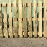 Round Top Pailing Fence Panel