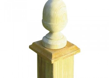 100mm Small Acorn Post Cap For use with 75mm x75mm Posts