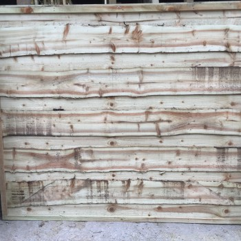 Heavy Duty Waney Lap Fence Panel