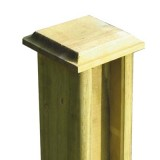 150mm Chamfered Post Cap For use with 125mm x125mm Posts