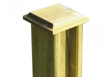 100mm Chamfered Post Cap For use with 75mm x 75mm Post