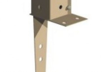 Fence mate swift clamp wall mount post support 3x3