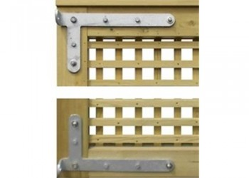 """Pair of 400mm Adjustable """"L"""" Shaped Gate Hinges"""