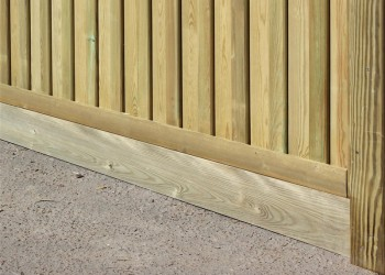 Slotted Post, Presure Treated Gravel Board