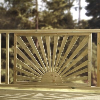 contemporary deck panel