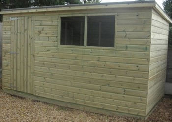 Tanalised Pent Shed