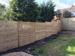 wooden garden fences in Wythenshawe